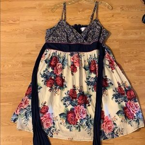 Xhilaration floral strapless dress